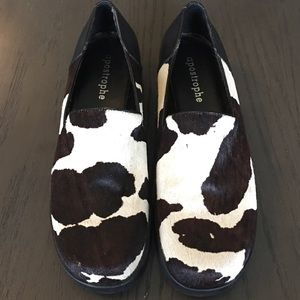 Cow Hide Leather Apostrophe Shoes. Sz 7.5 M